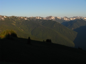The southern view from Hurricane Ridge