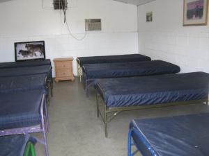 9 beds per bunkhouse